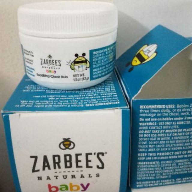 Dầu thiên nhiên xoa ấm ngực bé Zarbees