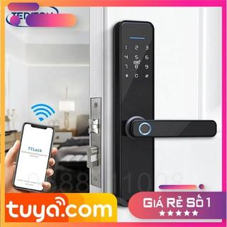 Khóa vân tay thông minh Tuya X2 2020 mở khóa vân tay, thẻ từ, chìa cơ, mật khẩu, cảm ứng. app điện thoại Tuya Smart hilo