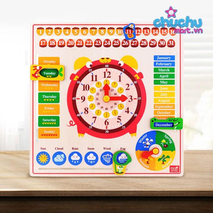 Đồ chơi đồng hồ gỗ - TOI