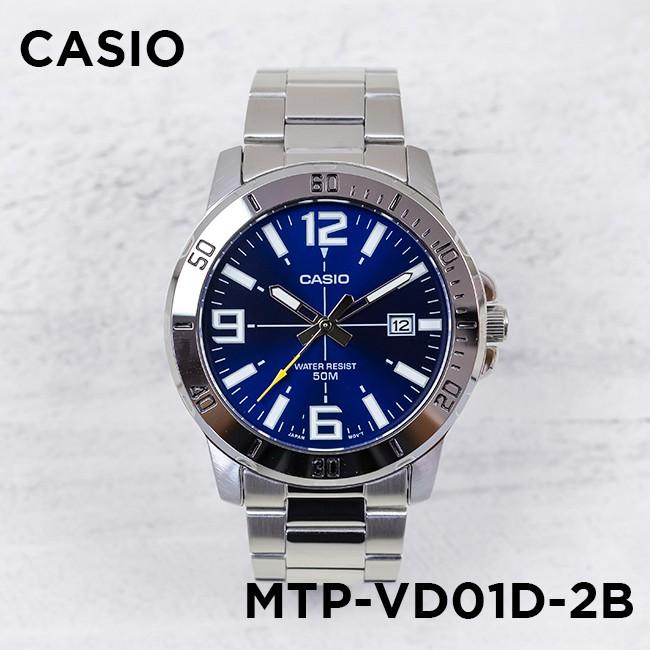 Đồng hồ nam dây kim loại Casio Standard chính hãng Anh Khuê MTP-VD01D-2BVUDF
