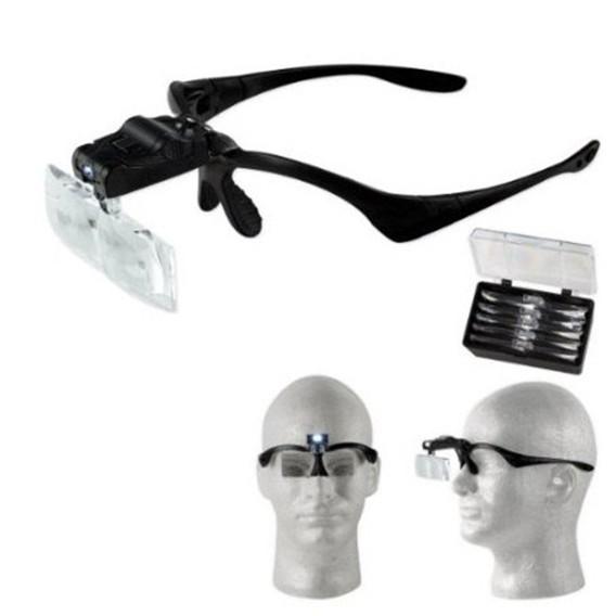 Kính lúp đeo đầu có đèn V2 Frẻ (đẹp)