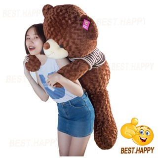 Gấu teddy áo len khổ vải 1m4 (cao thật 1m2)