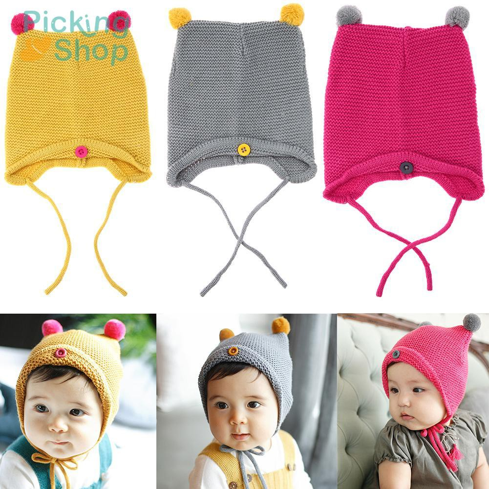 Fashion Autumn Winter Warm Baby Hat Girl Boy Toddler Kids Knitted Caps