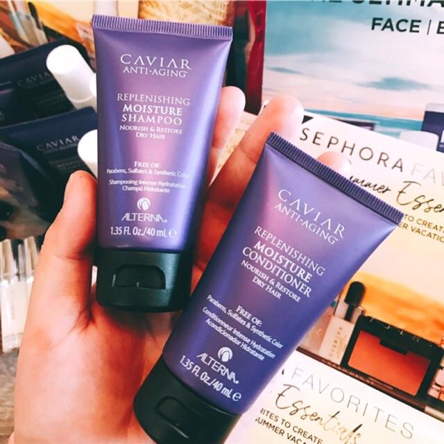 [Alterna] Dầu gội và dầu xả phục hồi tóc khô Caviar Anti-Aging Replenishing Moisture Shampoo + Condi