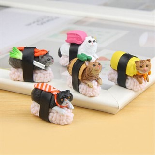 MT 5 Types Cute Sushi Neko Cat Club Capsule Meow Mini Figure Kitty Collection Gift NY