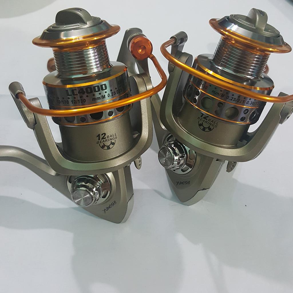 [MÁY TỐT] Combo 2 máy câu cá Yumoshi LC 4000 có 12 bạc đạn Kích thước : …|T23