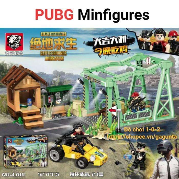 Lắp ráp Pubg khu vực cầu & nhân vật trong game 2018 (527 mảnh ghép)