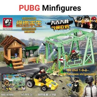 Lắp ráp Lego Pubg khu vực cầu & nhân vật trong game 2018 (527 mảnh ghép)