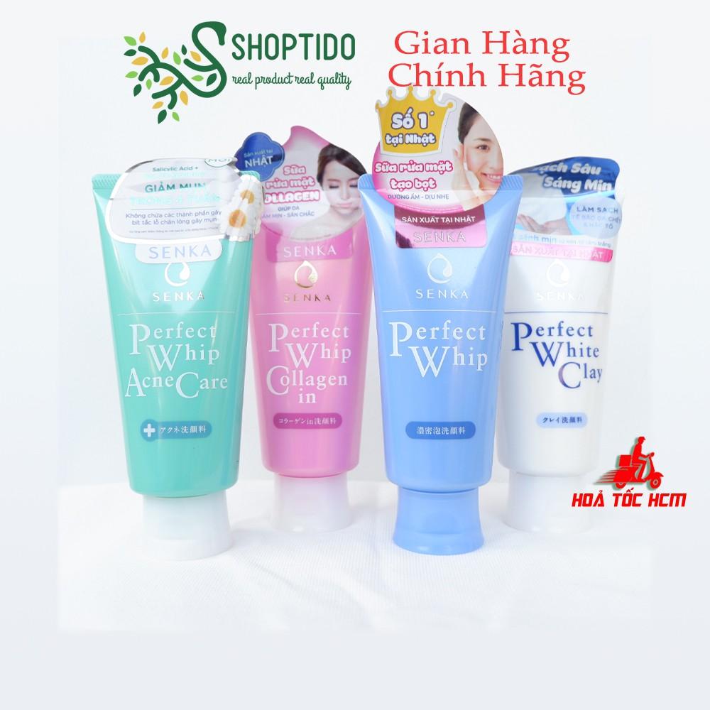 Sữa rửa mặt Senka Perfect tạo bọt, dưỡng ẩm, dịu nhẹ, sạch da, bọt tơ tằm trắng mịn chính hãng Nhật Bản NPP Shoptido