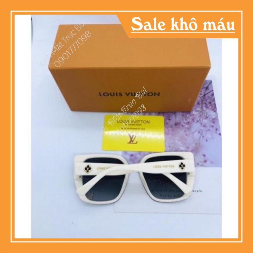 Kính Mát Nữ Tphcm chống UV400, thiết kế mắt dễ đeo, màu sắc thời trang LV 01 Full box