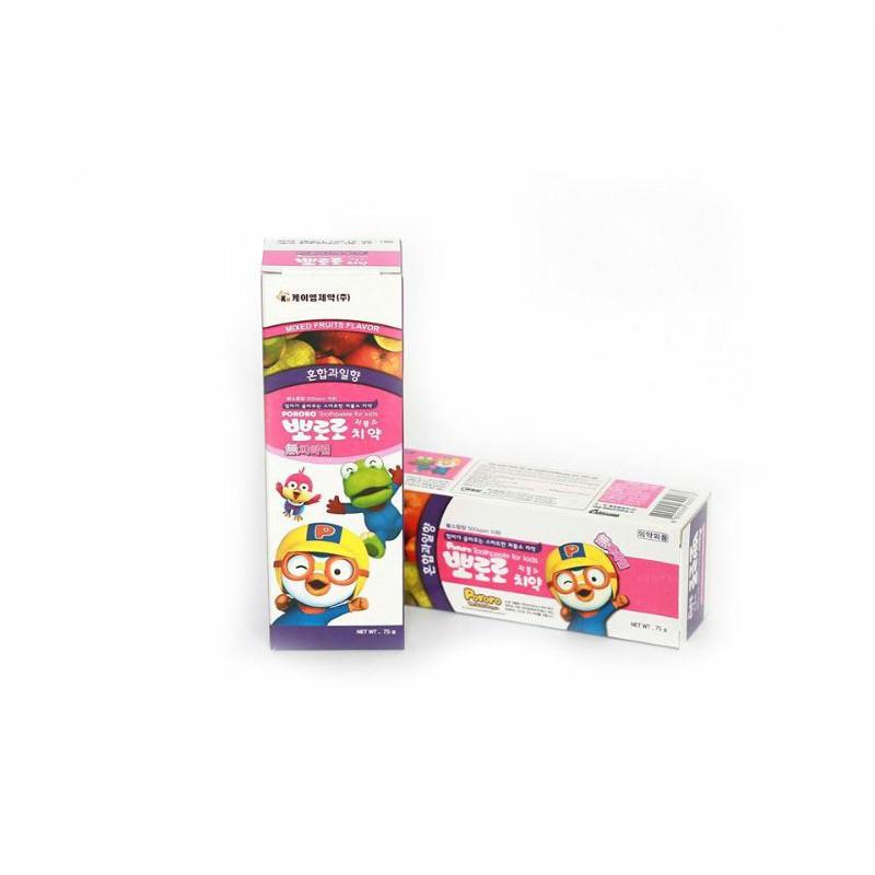 [Mã MKBC166 giảm 100K đơn 1tr3] Kem đánh răng trẻ em PORORO 75g Hàn quốc