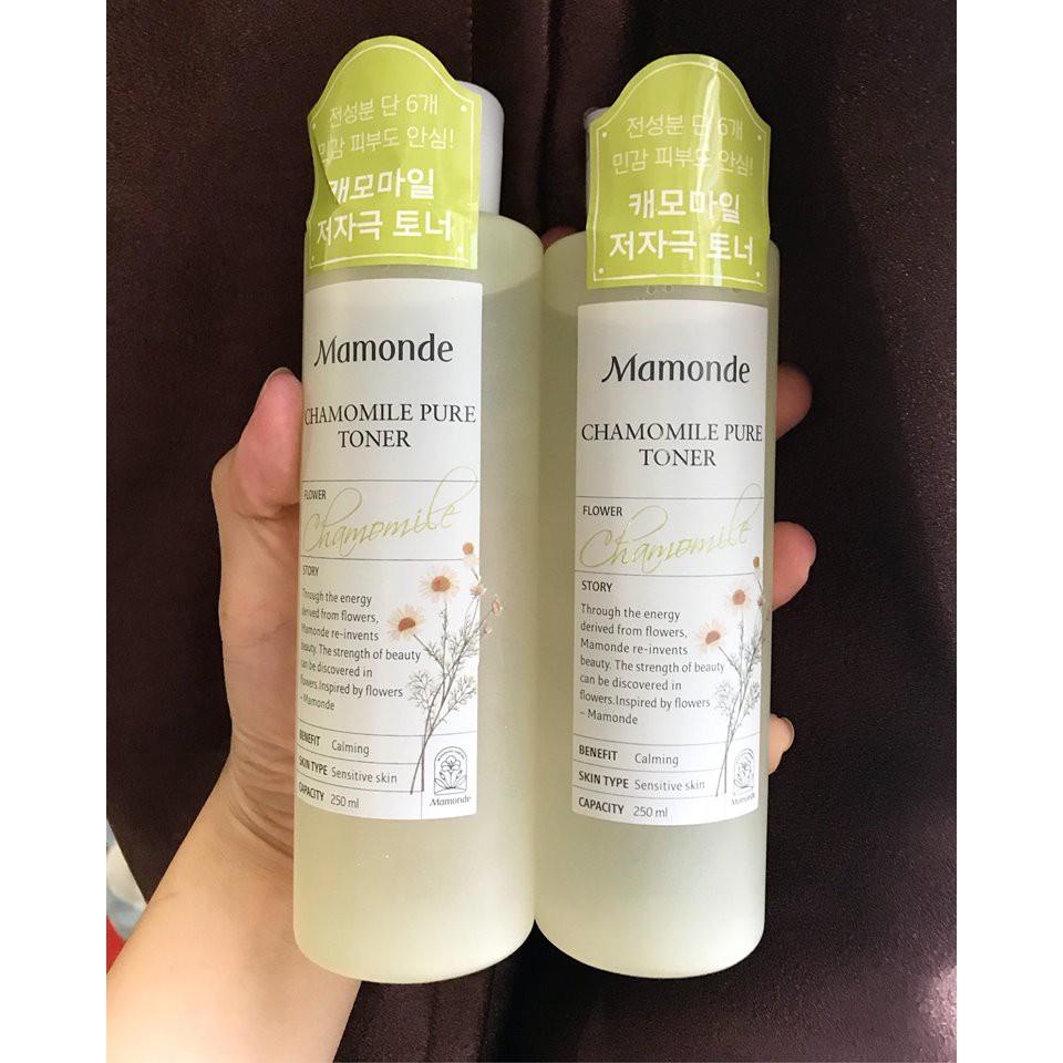 Nước Hoa Hồng Mamonde Chamomile Pure Toner 250ml