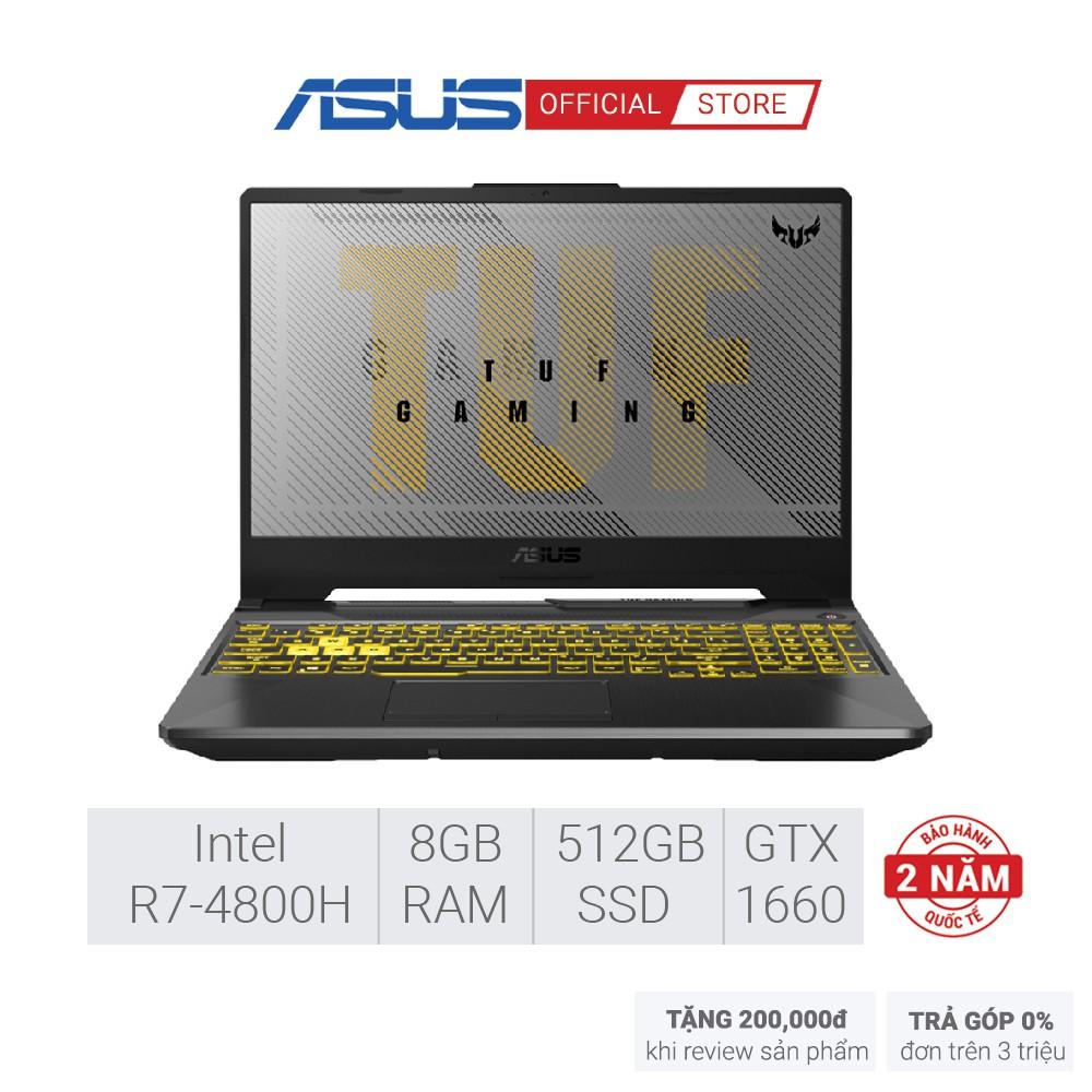 Laptop Gaming Asus TUF FA506IU-AL127T (AMD R7-4800H/GTX1660Ti 6G/8GB RAM/512G SSD/15-inch FHD/WIN 10)