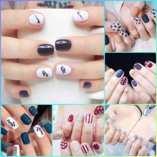 Bộ dán móng tay nail sticker gồm 14 móng, không thấm nước, độ đàn hồi tốt thumbnail