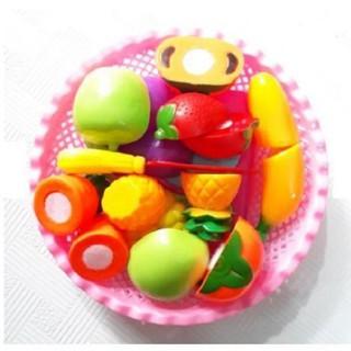 Đồ chơi cắt hoa quả kèm rổ đựng cho bé