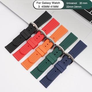 Dây Đồng Hồ Thông Minh Bằng Silicon Cho Samsung Galaxy Watch 3 41mm 45mm Gear 2 Neo S2 S3 S4