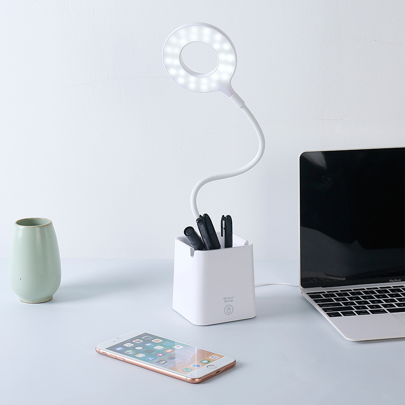 Đèn bàn LED Bảo vệ mắt Học tập Đèn LED để bàn Đèn đọc sách có thể sạc lại Đèn ngủ có giá đỡ bút cho học sinh