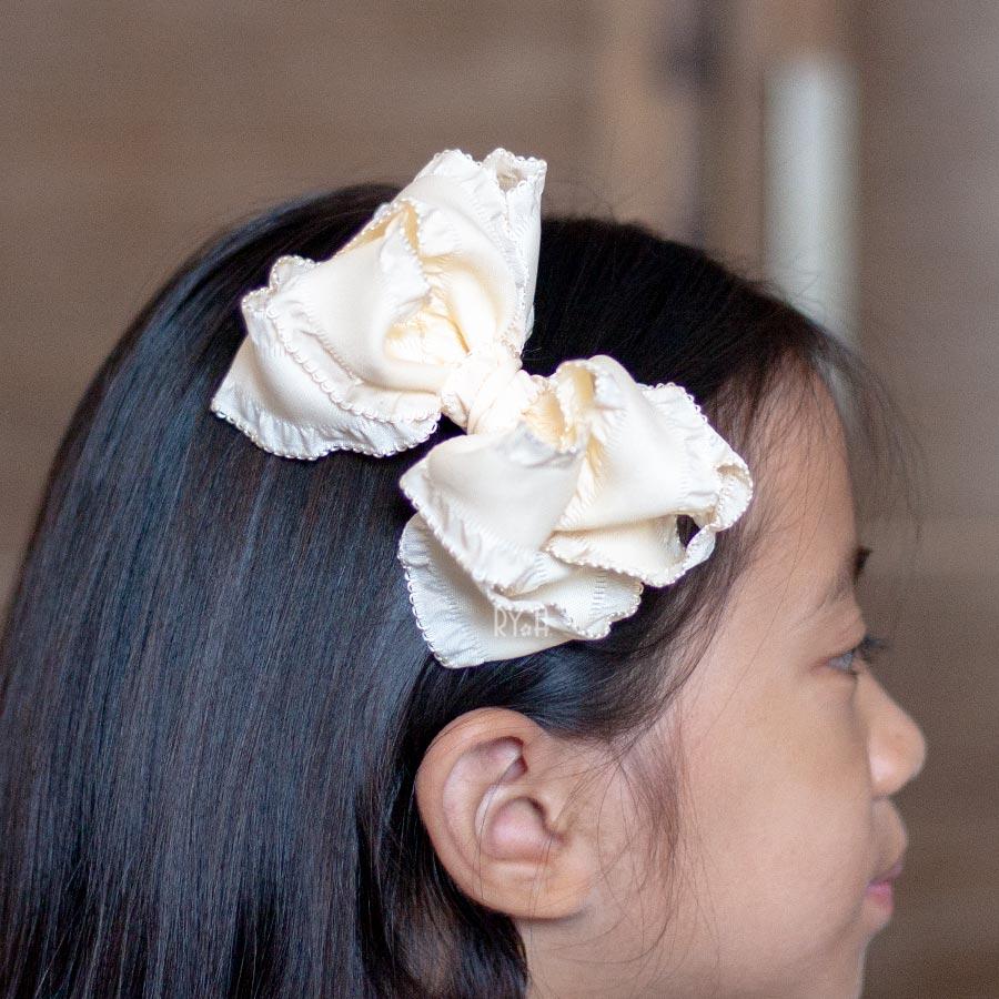 Kẹp tóc cho bé nơ ruy băng cỡ lớn RYA 113413