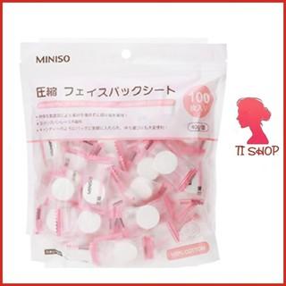 Mặt nạ FREESHIP Mặt nạ nén Miniso Nhật Bản gói 100 viên tiện dụng
