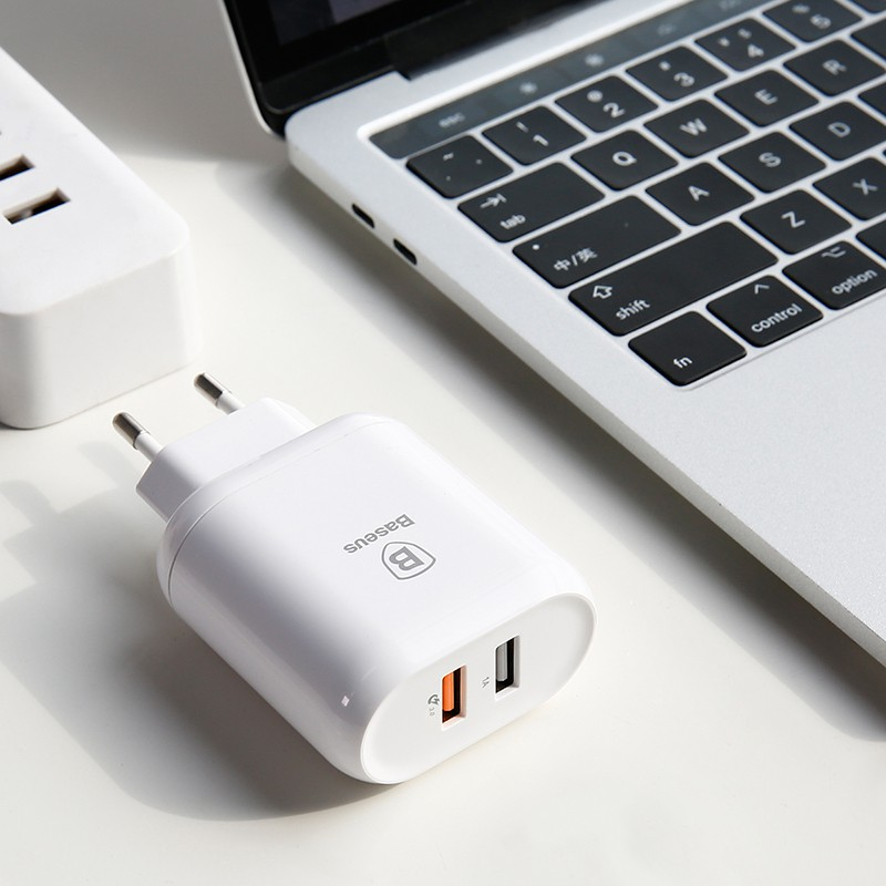 CỦ sạc 2 cổng USB siêu nhanh cao cấp