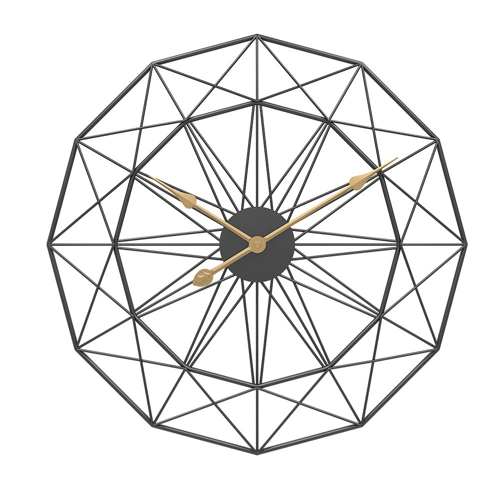 Đồng hồ Treo Tường Kim Loại Kim Cương Retro PA9530