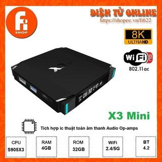 Yêu ThíchAndroid TV Box X3 Mini - Amlogic S905X3, 4GB Ram, 32GB bộ nhớ trong, Android TV 9.0