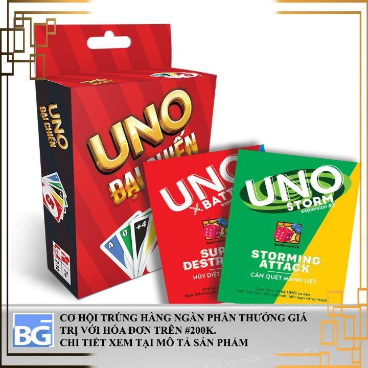 Set Uno đầy đủ (Uno cơ bản + mở rộng 1 và mở rộng 2)