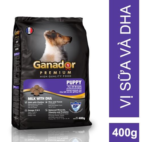 Thức ăn cho chó con Ganador vị Sữa và DHA - Puppy Milk with DHA 400g