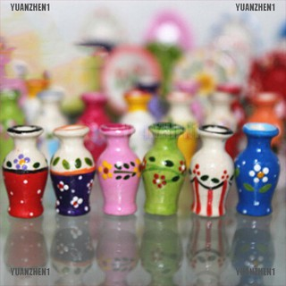 【YUANZHEN1】1:12 Miniature painted pottery vase dollhouse diy doll house decor