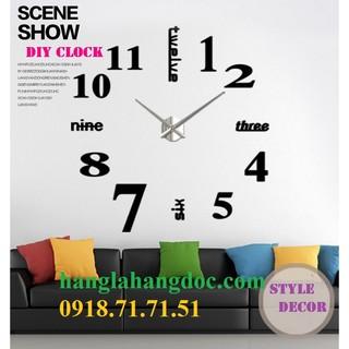 Đồng hồ dán tường tự sáng tạo DIY Clock (loại lớn) đường kính 1,5m version 3