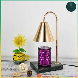 [NEW] Đèn đốt nến thơm Đế đá – Warmer Candles GU10 35W – Phong cách Hàn Quốc, có núm chỉnh độ sáng