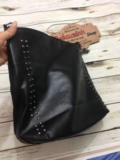 Túi xách đeo chéo dây xích phối da
