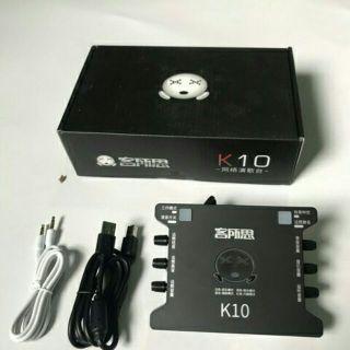 [Mã 157ELSALE hoàn 7% đơn 300K] Soundcard thu âm XOX K10,hát livestream (bảo hành 1 năm) thumbnail