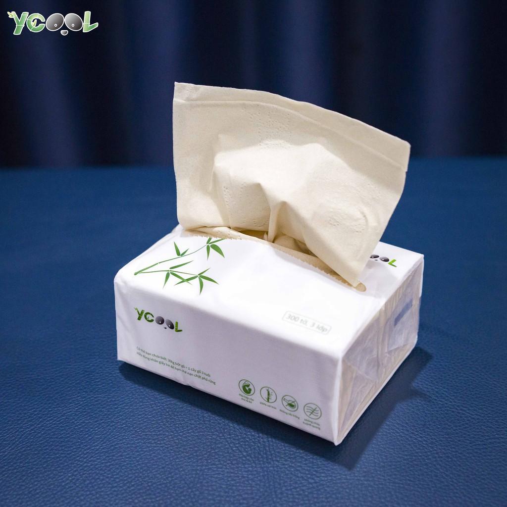Giấy ăn gấu trúc Ycool -giấy vệ sinh giấy gói giấy rút 390 tờ 1 bịch 6 gói