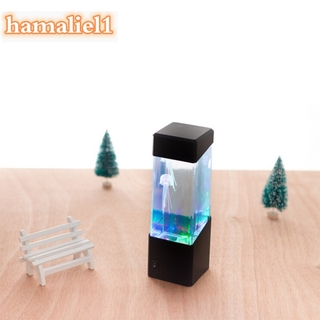 LED Mini Fish Tank Water Light Box Water Ball Aquarium Jellyfish Lamp Bedside Cabinet Lighting Nightlight