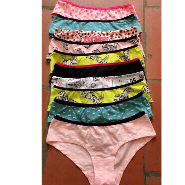 Quần combo 5 quần lót pink cotton kiểu dáng trẻ trung có size 45-65kg | WebRaoVat