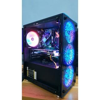 Combo Vỏ Case Xigmatek NYX Kèm 4 Fan LED 5 Màu – M-ATX, 2 SIDE TEMPERED GLASS New chính hãng Mai Hoàng