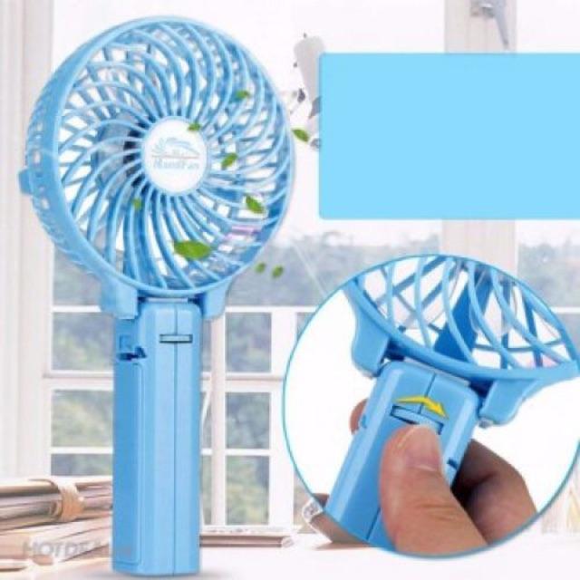 Quạt sạc tích điện cầm tay mini fan gấp gọn thông minh