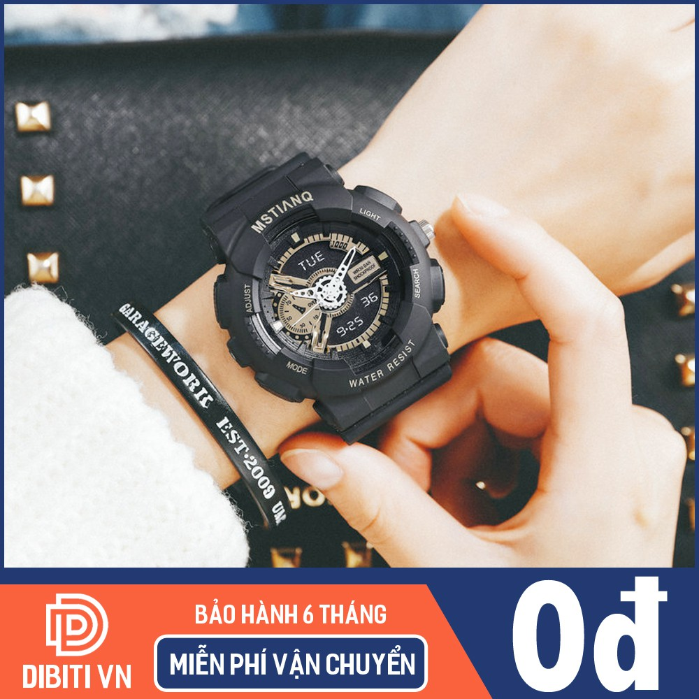 (Giá Sỉ) Đồng hồ thể thao nam nữ giả điện tử MSTIANQ M115 dây nhựa, chống nước sinh hoạt, chạy 3 kim (bảo hành 6 tháng)