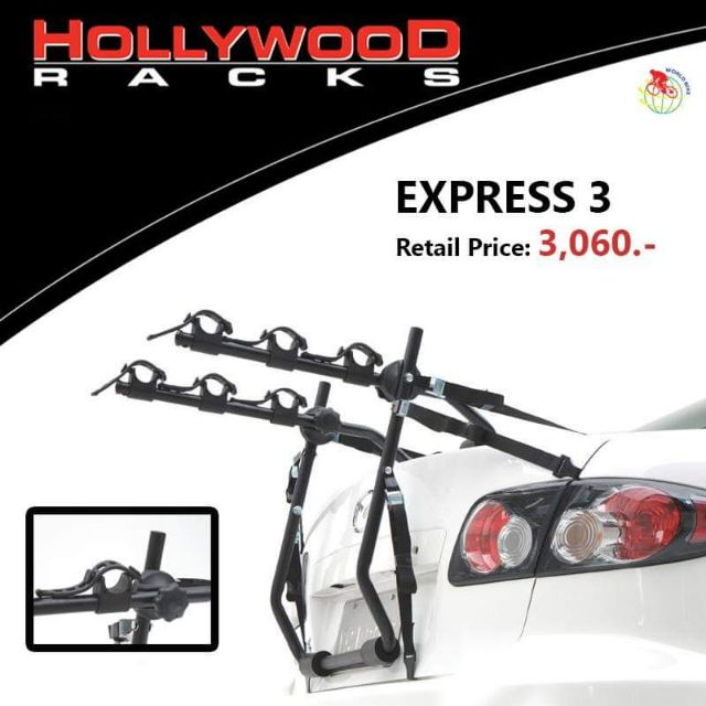 แร๊ควางจักรยาน แบบยึดหลังท้ายรถ เก่ง รถ van ยี่ห้อ hollywood express 3
