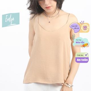 Áo 2 dây nữ Evelyn lụa cao cấp trơn basic nhiều màu đẹp sang trọng quyến rũ thumbnail