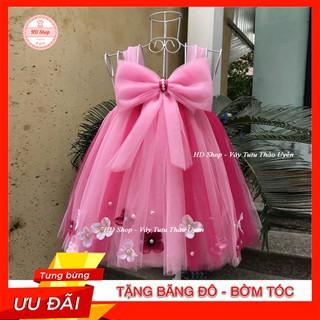 Đầm công chúa cho bé ❤️FREESHIP❤️ Đầm công chúa hồng phấn pha hồng sen nơ hp
