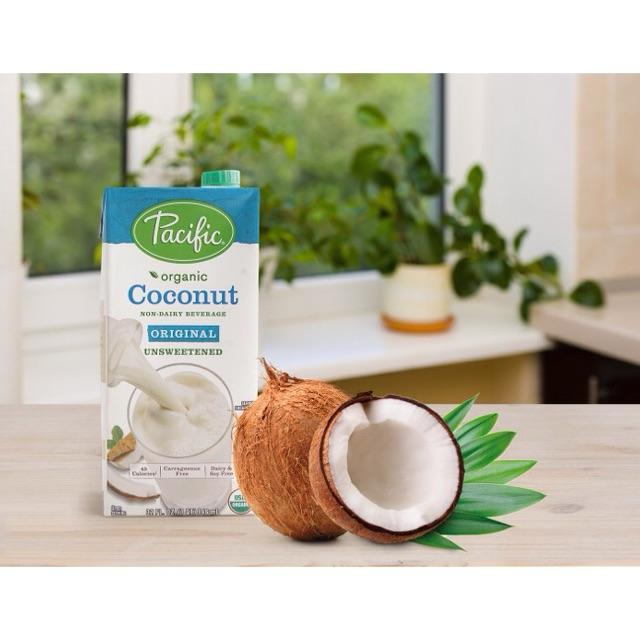 Combo 2 Sữa dừa hữu cơ không đường Pacific Organic 946ml