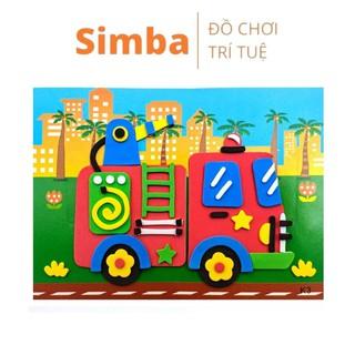Tranh xốp xé dán giấy đồ chơi Simbaba thủ công sáng tạo cho bé phiên bản 2021 thumbnail