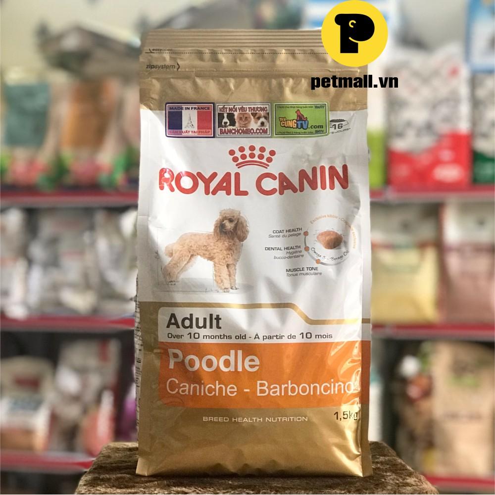 Thức ăn hạt Royal Canin POODLE ADULT 1.5Kg (>10 tháng tuổi)