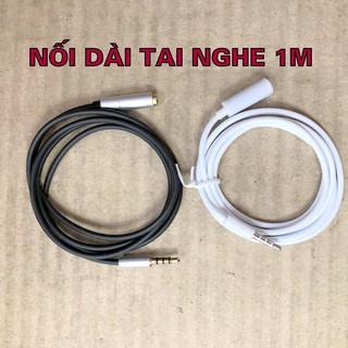 Cáp nối dài tai nghe có Mic, dây nối thêm tai nghe 1m hỗ trợ mic nghe gọi đàm thoại KLH
