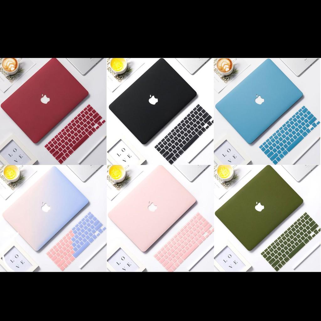 [ 4 IN 1 ] Combo Ốp Macbook &  Phủ Phím Cùng Màu (Tặng Nút Chống Bụi  & Kẹp Chống Gẫy Sạc )