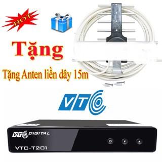 Đầu thu Kỹ thuật số DVB T2 VTC T201, xem truyền hình và Youtobe miễn phí trọn đời ( Tặng Kèm Bộ AngTen 15m Dây )
