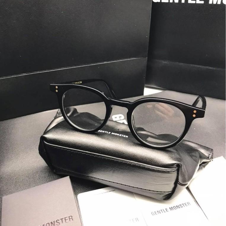 Kính mắt thời trang- Gọng Kính thơì trang cận loạn mắt tròn Milannn Unisex nhựa Acetate – M01 – Màu đen
