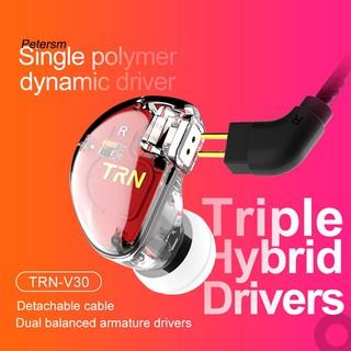 Cặp tai nghe nhét tai có dây TRN V30 HIFI với mic chất lượng cao